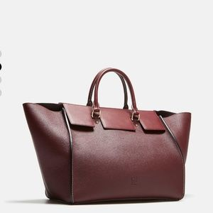 Carolina Herrera Burgundy Vendome Medium Handbag